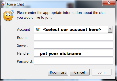 How to join a chat room